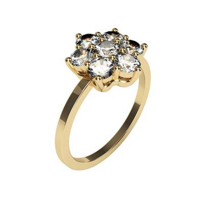 Carity 9ct 7 Stone Moissanite Diamond Ring - . -