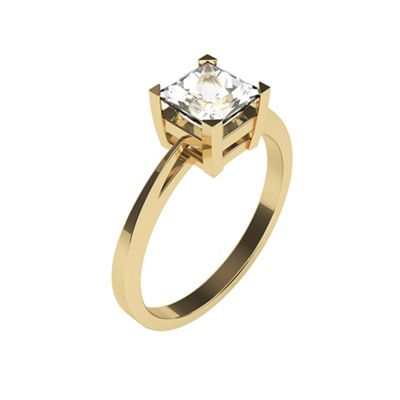 Carity 9ct 0.29ct Princess Moissanite Engagement Ring - . -