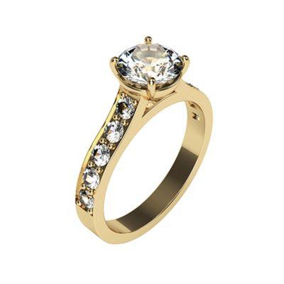 Carity 9ct 11 stone Moissanite Diamond Ring - . -