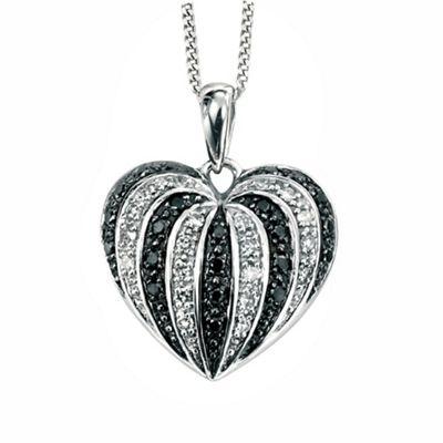 Ladies 9ct gold 0.20ct diamond pendant and