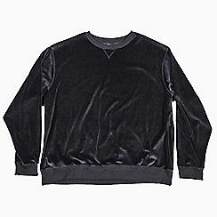 MVP Collections - Big and tall black velour sweatshirt