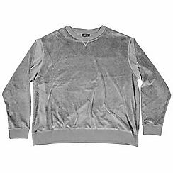 MVP Collections - Big and tall dark grey velour sweatshirt