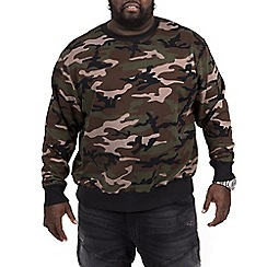 MVP Collections - Big and tall khaki camo French terry sweatshirt