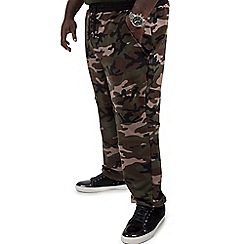 MVP Collections - Big and tall olive camo French terry jogger