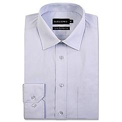 Double Two - Light grey cotton rich non-iron shirt