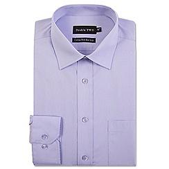Double Two - Light purple cotton rich non-iron shirt