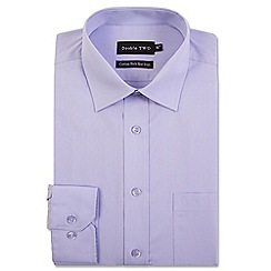 Double Two - Big and tall light purple cotton rich non-iron shirt