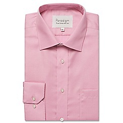Double Two - Big and tall pink single cuff cotton shirt