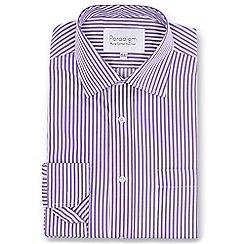 Double Two - Purple striped single cuff pure cotton shirt