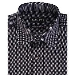Double Two - Black ditzy dot print formal shirt