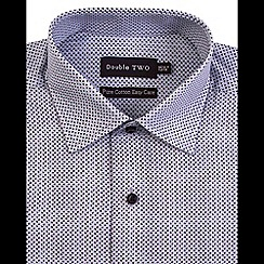 Double Two - Grey ditzy dot print formal shirt
