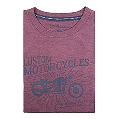 Bar Harbour - Big and tall purple custom motorcycles print t-shirt