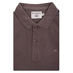 Bar Harbour - Big and tall brown knot cotton polo shirt