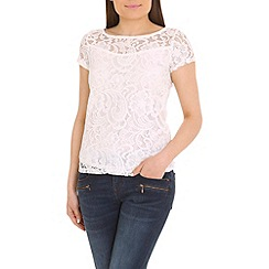 Alice & You - Cream lace layer tee