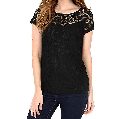 Alice & You - Black lace layer tee