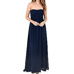 Alice & You - Navy ruched bandeau maxi dress