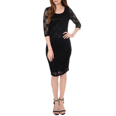 Alice & You Black lace layer midi dress - . -