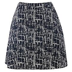 Cutie - Black kriss kross print skirt
