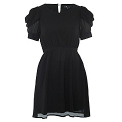 Cutie - Black drape sleeve dress