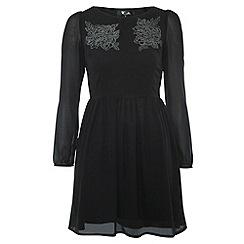 Cutie - Black sheer long sleeve dress