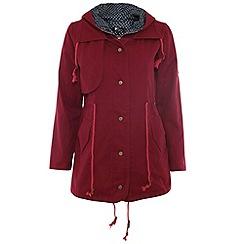 Cutie - Maroon parka jacket