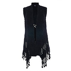 Samya - Black cut out detailed cardigan