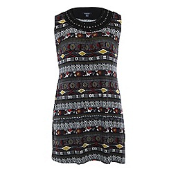 Samya - Black owl print dress