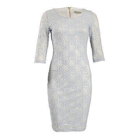 Alice & You - Bright blue lace layer midi dress