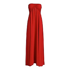 Alice & You - Red ruched bandeau maxi dress
