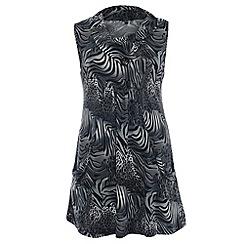 Samya - Dark grey animal print dress