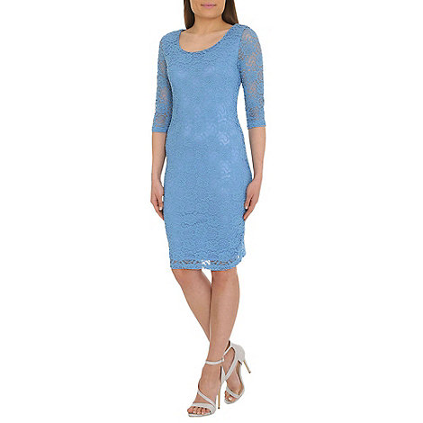 Alice & You - Light blue lace layer midi dress
