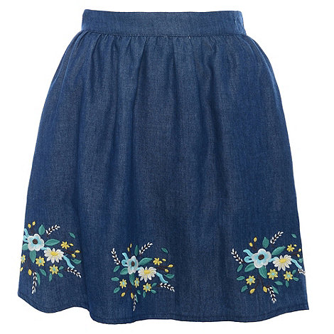 Sugarhill Boutique - Blue wild flower skirt