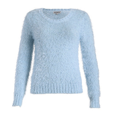 Alice & You - Light blue long fluffy knit jumper