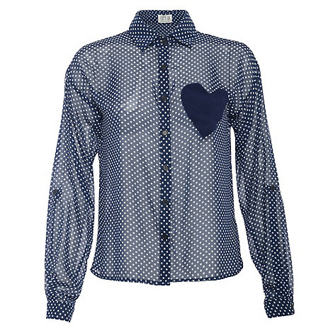 Poppy Lux - Navy tamsin blouse