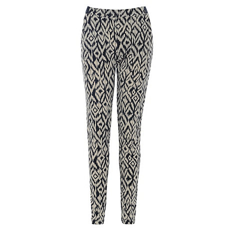 Poppy Lux - Black tribal print trousers