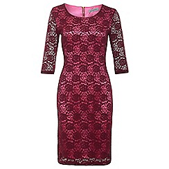 Alice & You - Burgundy lace layer midi dress