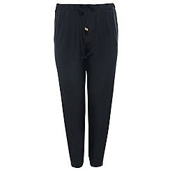 Threads - Black tailored waist tie jogger