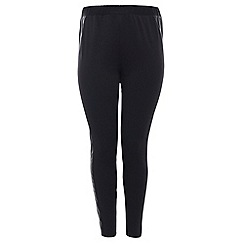 Threads - Black pu contour panel leggings
