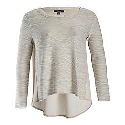Samya - Cream long sleeve back lace detailed top