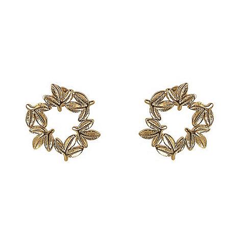 Ziba - Gold layered leaf earrings