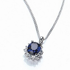 Buckley London - Silver royal celebration sapphire pendant
