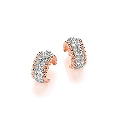 Buckley London - Gold miniature bling hoop earrings