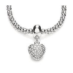 Buckley London - Silver rhodium mesh heart pendant