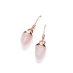 Buckley London - Gold semi precious acorn drop earrings