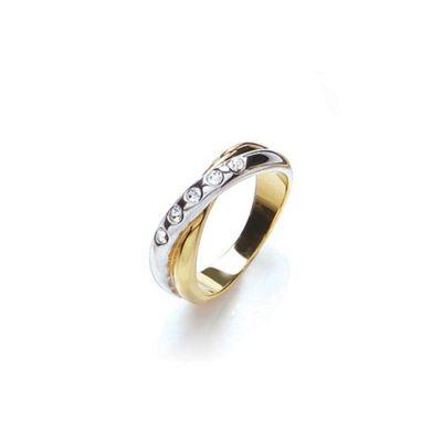 Buckey ondon God two tone crysta ring - . -