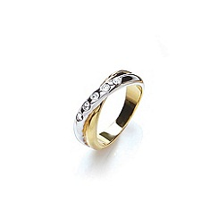 Buckley London - Gold two tone crystal ring