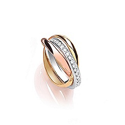 Buckley London - Gold russian channel set ring