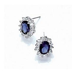 Buckley London - Silver royal celebration stud earrings