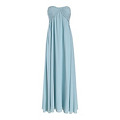 Alice & You - Light blue ruched bandeau maxi dress