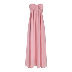 Alice & You - Light pink ruched bandeau maxi dress